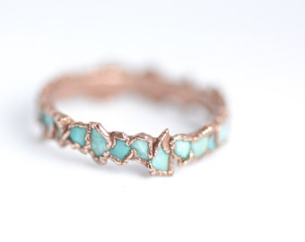 READY to SHIP. Size US 6.75. Turquoise Ring. Turquoise Band. Turquoise Band Ring. Turquoise Wedding Band Ring. Blue Turquoise Band Ring.