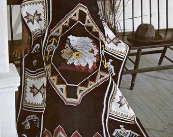 American Indian Crochet Blanket Pattern