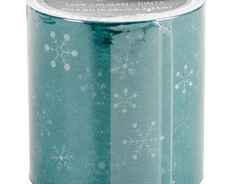 Teal Snowflake Christmas Tape by Heidi Swapp Marquee Love 9 Feet by 2 Inches