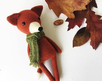 Finnley the Fox Amigurumi crochet PATTERN ONLY handmade fox PDF