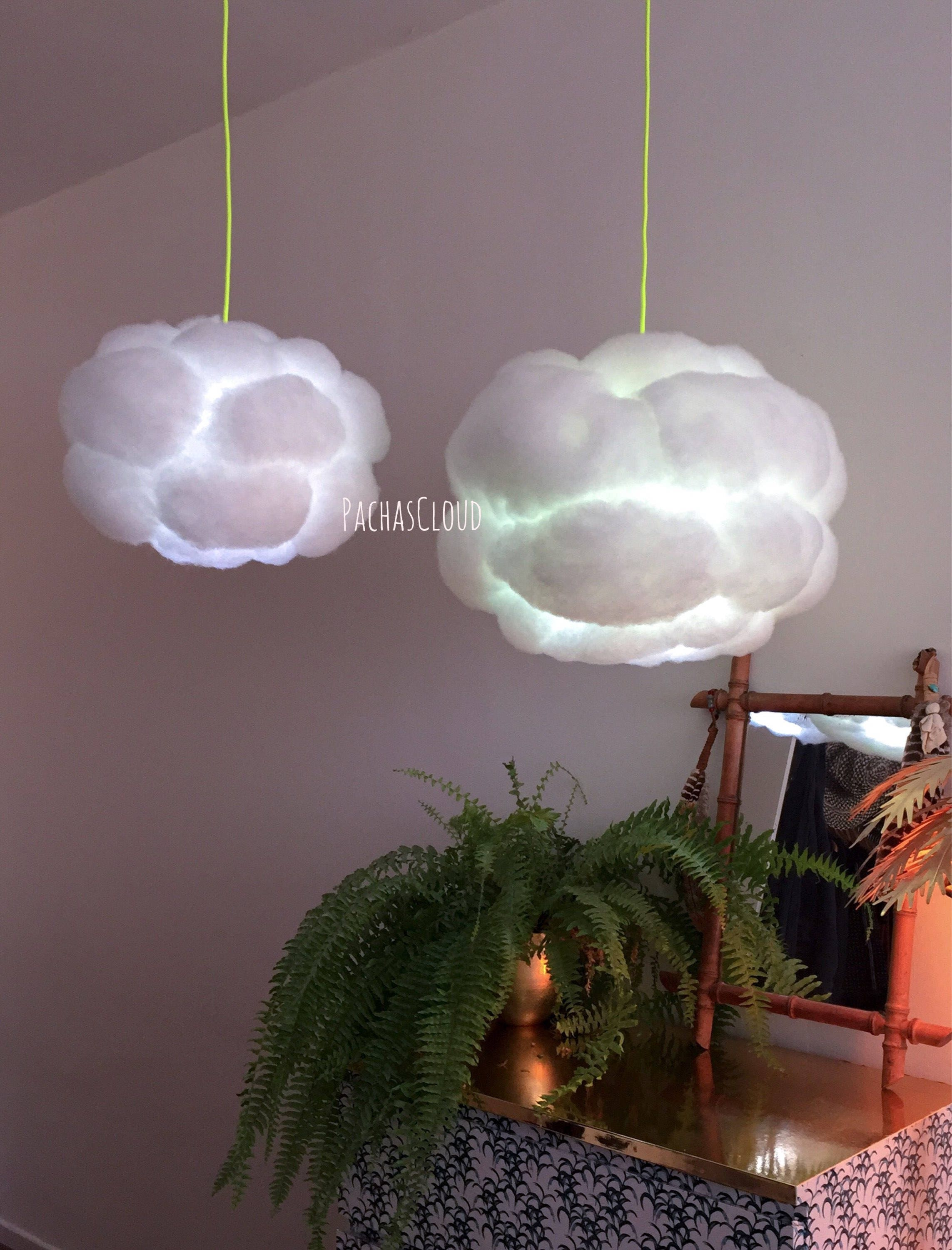 video creative pin cloud ceiling display sculptural cover fluorescent light led