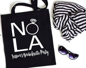 New Orleans Canvas Tote, Bachelorette Party Tote, Bachelorette Party Favor, Bachelorette Party Gift, Gift Bag, Tote Bag, New Orleans Tote