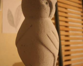 chouette. Sculpture.