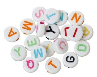 Alphabet beads 50 PCs (A 763)