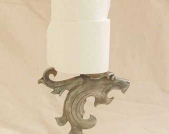 wrought iron toilet roll holder