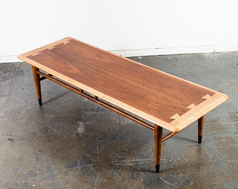 Charmant Mid Century Modern Coffee Table Lane Surfboard Acclaim Restored Vintage  Wide Mcm Drexel Danish Denmark Restored Retro Walnut Oak Wood