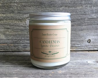 Homemade Candlemas Soy Candle - Bakery, Imbolc candle, winter Candle, Handmade Artisan Candle