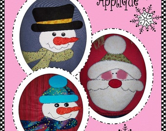 Winter Friends Appliqué Digital Pattern (#102) - Instant Download
