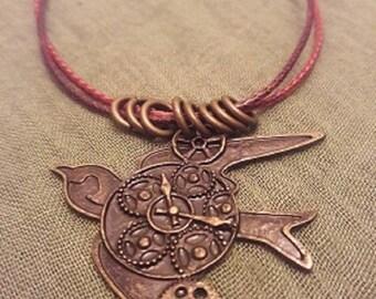 Steampunk Bird Necklace