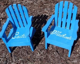 TM le jeu personnalisé Original de 2 Cake Topper Mini Adirondack chaise Decor plage lac rustique mariage personnalisé n'importe quelle couleur