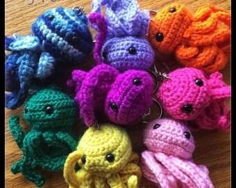 Handmade Crochet Octopus Keychain