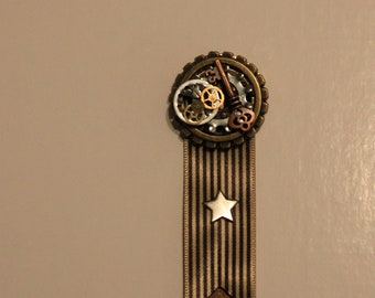 Steampunk Medal - with some real clock gears, and some not so authentic