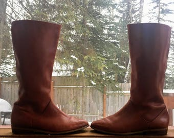 Whiskey Leather Boots Sz 9