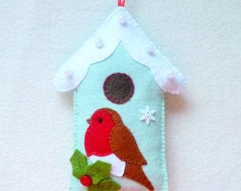 Felt Robin and Bird House pdf Sewing Pattern