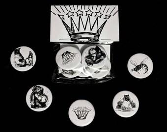 5-Pack Kingsman Pack - Artwork Illustration Badge Pin-back Button or Magnet