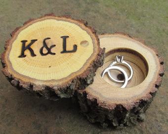 Rustic Wedding Ring Boxes   Wood Ring Boxes   Wooden Ring Boxes   Rustic Ring Bearer Ring Boxes   Country Wedding   Outdoor Wedding Ring Box