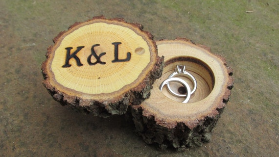 Rustic Wedding Ring Boxes Wood Ring Boxes Wooden Ring