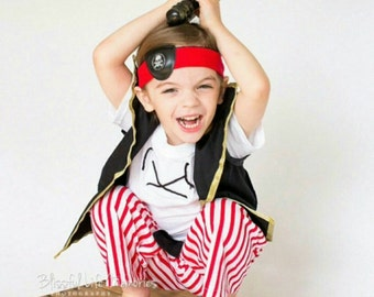 Pirates costume - Pirate Birthday Party -  Cruise Pirates Night - Pirate - Pirates Outfit - Costume - Pirates Outfit - Pirate theme Party