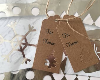 Rustic Paper Christmas Gift Tags