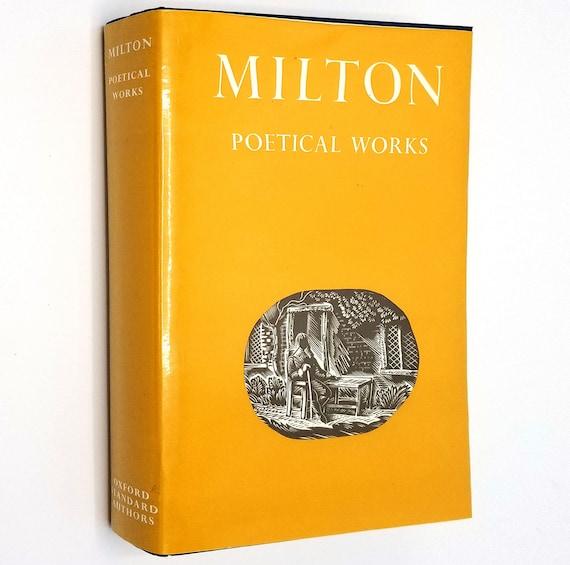 Milton: Poetical Works edited by Douglas Bush 1969 Hardcover HC w/ Dust Jacket DJ - Oxford University Press - London