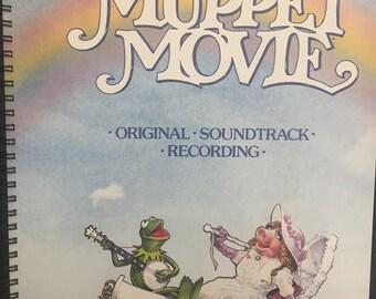 for THE MUPPET MOVIE / Kermit / Miss Piggy fans! Album Cover Notebook vintage!!!
