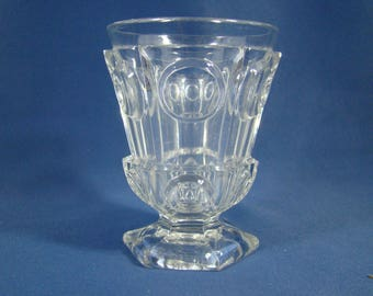 molded pressed glass goblet Charles 10 era Baccarat crystal
