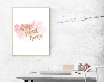 Home Sweet Home Downloadable Print, Office Print, Home Print