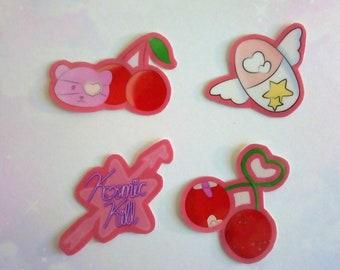 Bearry Yamikawaii / Menhera Character Stickers (4 Stickers)