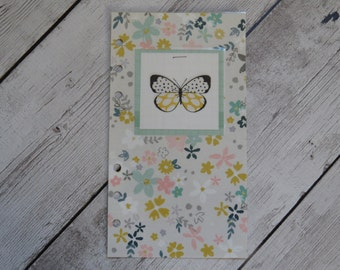 Filofax Personal Size Dashboard - Beautiful Butterfly - Pastel Floral - Spring