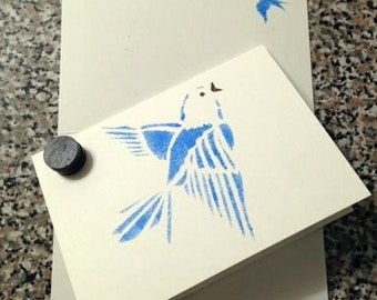 DiDi's Bluebird of Happiness cards +Plus Envelopes  (set of 3) - Weddings, Thank You Card, invitations, Birthday, Get Well, Personal Note
