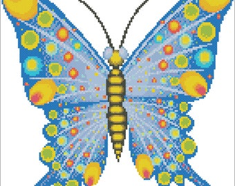 Butterfly Counted Cross Stitch Chart Pattern - Pattern Only (PDF DOWNLOAD)