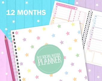 My Social Media Planner (12 months), social media organiser, social media organizer