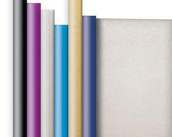 Jillson & Roberts Double-Sided Kraft Gift Wrap Roll Assortment (6 Rolls)