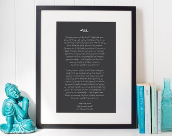 Wedding Vow Art: Custom Designed, Wedding Vow Calligraphy, Wedding Keepsake, Wedding Vow Print, Wedding Vow Wall Art, Bohemain Vow Art