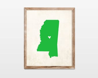 Mississippi Rustic State Map. Personalized Mississippi Map Art Print 8x10. Mississippi Vacation Map Art. Personalized Rustic State Map Art.