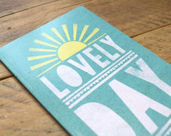 Lovely Day Illustrated A5 Plain Notebook - Stationery
