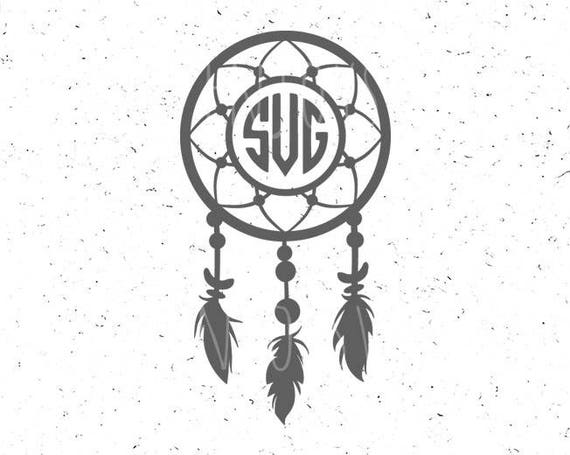 Dream catcher monogram svg dreamcatcher svg monogram svg for Dream catcher graphic