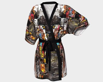One night in Tokyo Kimono Robe