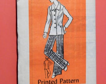 Workbasket mail order pattern 4523 Jacket with interesting front seam detail and pants pattern Uncut Size 12