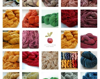 APPLEOAK naturally Dyed STOCKHOLM yarn ~choose from 21 colours and 5 patterns  ~ plant dyed  ~ Bulky yarn, naturally dyed, single ply, soft