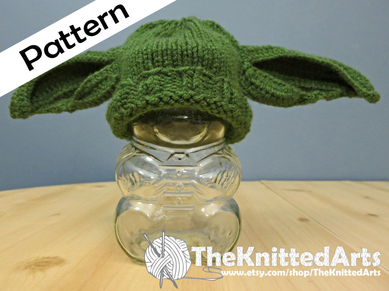 Knit pdf hat pattern yoda style ears zoom dt1010fo