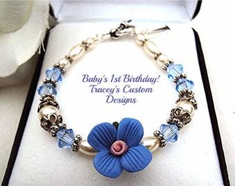 Babys 1st Birthday Keepsake Bracelet