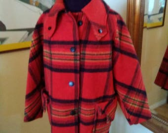Colorful vintage Pendleton style coat