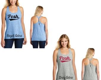 Glitter Posh Cosmic Twist Back Tank, Posh Twist Back Tank, Posh Tank Top, Posh Tank, Posh Clothing, Posh