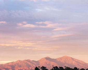 Saddleback Mountain during Sunset - Fine Art Photograph, Travel Photography, Wall Art, Room Decor, California, Landscape