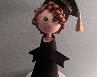Graduation cake toppers a keepsake doll made to keep personalized and customized to resemble your grad