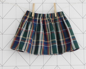 Tartan cotton baby and toddler skirt