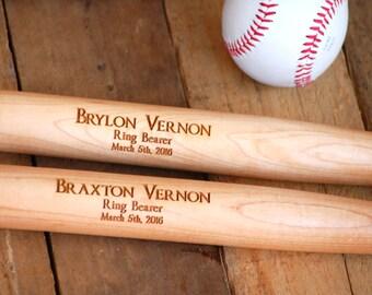 2 Groomsmen, Personalized Baseball Bat, Ring Bearer Gift, Wedding, Groomsmen Gift, Usher Gift, Bachelor Party, Baseball, Father of the Bride