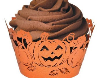 Pumpkin Cupcake Wrappers