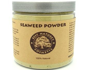 Organic Seaweed, Kelp Powder. Can be used in face masks, detoxifying body wraps, soap making, body scrubs and bath powders.